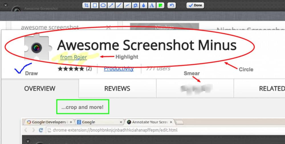 Awesome Screenshot Minus