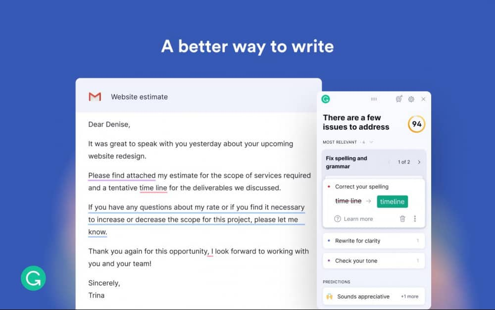 Grammarly - A Better Way To Write